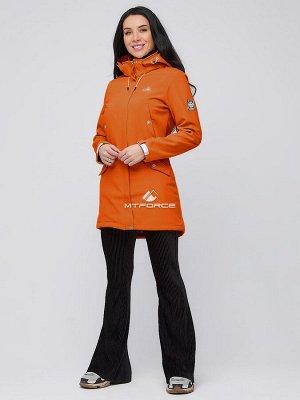 Женская осенняя весенняя парка softshell оранжевого цвета 2026O