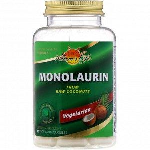 Nature&#x27 - s Life, Монолаурин, 90 вегетарианских капсул