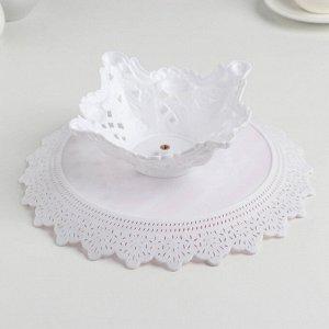 Блюдо для торта и пирожных круглое 26?18,5 см с крышкой «Бант» цвет МИКС