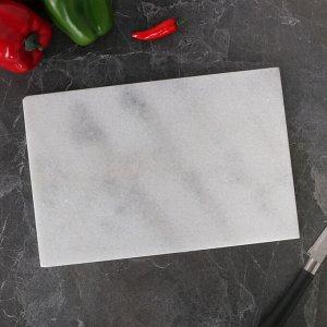 Доска разделочная, белый мрамор, 30?20?1.5 см