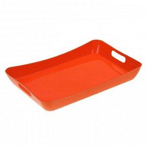 Поднос «Funny», 42,2?28,2?5,2 см, цвет оранжевый