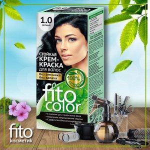 """Стойкая крем-краска для волос серии """"Fitocolor"""", тон 1.0 черный 115 мл"""