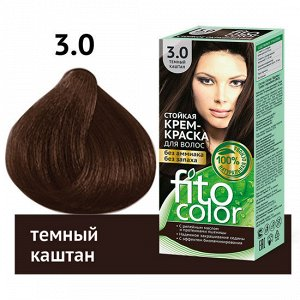 """Стойкая крем-краска для волос серии """"Fitocolor"""", тон 3.0 темный каштан 115 мл"""
