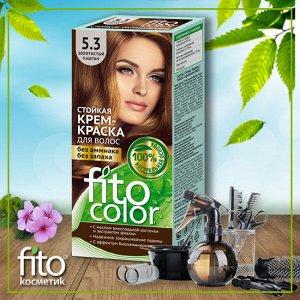 Cтойкая крем-краска для волос серии «Fitocolor», тон 5.3 золотистый каштан 115 мл