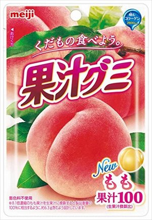 MEIJI Juice Gummy Momo - персиковый мармелад на фруктовом соке