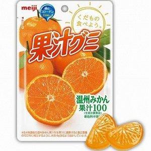 MEIJI Juice Gummy Mikan - мандариновый мармелад на фруктовом соке