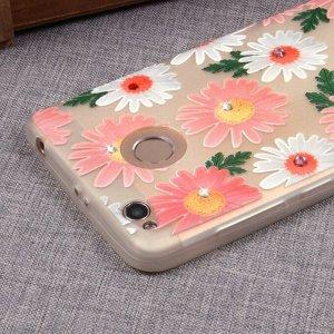 Матовый чехол со стразами для Xiaomi Redmi 3S, арт.009651