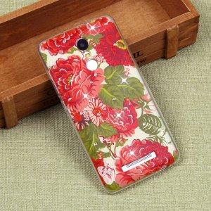Силиконовый чехол с цветами для Xiaomi Redmi Note 3/3 Pro, арт. 009614