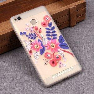 Матовый чехол со стразами для Xiaomi Redmi 3S, арт.009994