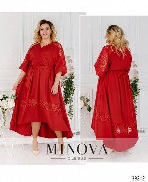 Платье №3301-красный