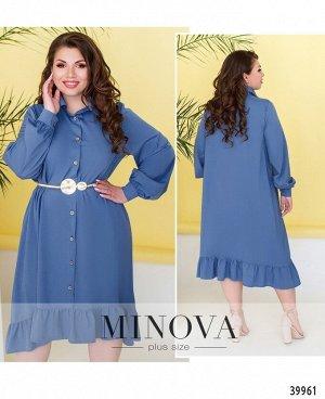 Платье №1909-1-джинс