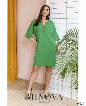 Платье №599Б-зеленый