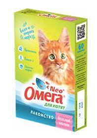 """Омега Neo+К-М витаминное лакомство для котят с пребиотиком и таурином""""Веселый малыш"""" 60таб"""