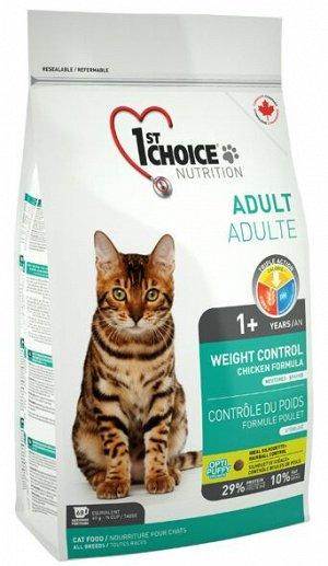 1'st Choice Weight Control сухой корм для стерилизованных кошек Контроль веса 5,44кг