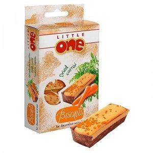 Little One Лакомство для хомяков, крыс, мышей, песчанок Бисквиты с морковью 5*7гр