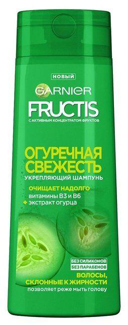 Шампунь Огуречная Свежесть укрепляющий д/волос склонных к жирности с экстрактом огурца 250мл