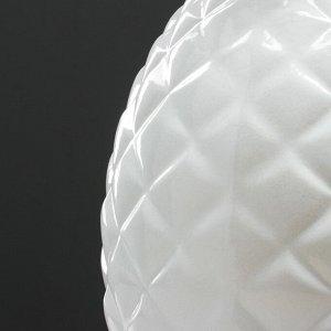 "Ваза настольная ""Ананас"". цвет белый. 33 см. керамика"