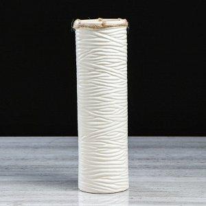 """Ваза настольная """"Земфира"""". белая. 29 см. керамика"""