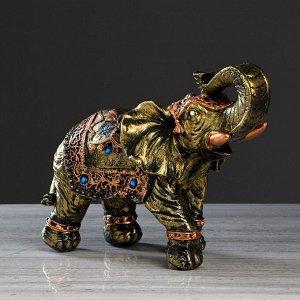 """Статуэтка """"Слон классный"""" бронза, 26 см, микс"""