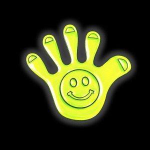 Светоотражающая наклейка «Ладошка», 5 ? 5 см, 4 шт на листе, цвет жёлтый.