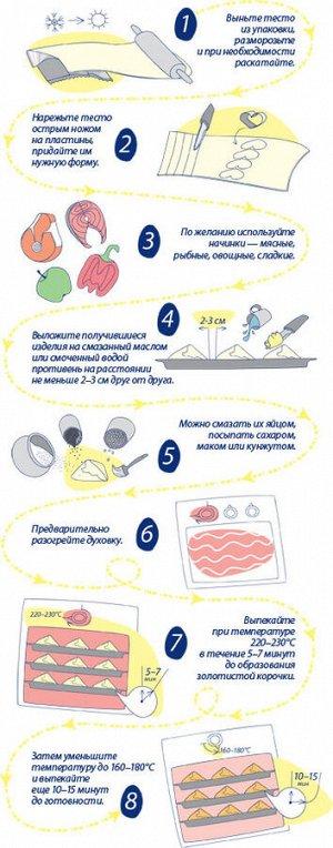 Тесто слоеное дрожжевое «Сибирский Гурман»