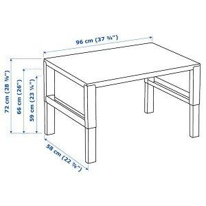 PÅHL ПОЛЬ Письменный стол, белый/розовый 96x58 см