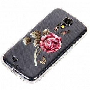 Силиконовый чехол Цветы для Samsung i9500 Galaxy S4, арт. 009151