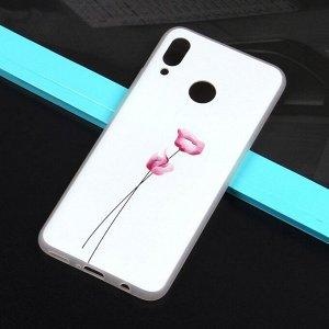 Чехол ТПУ с цветами для Huawei Nova 3, арт.010774