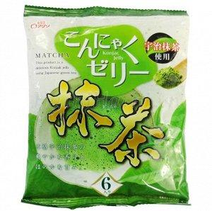 """Желе """"Yukiguni Aguri"""" порционное Конняку со вкусом зелёного чая (6шт х18г), 108г, 1/12"""