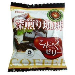 """Желе """"Yukiguni Aguri"""" порционное Конняку со вкусом кофе (6шт х18г), 108г, 1/12"""