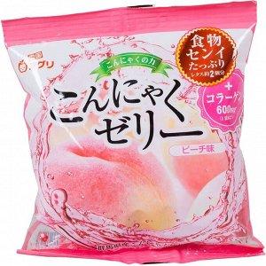 "Желе ""Yukiguni Aguri"" порционное Конняку со вкусом персика (6шт х18г), 108г, 1/12"