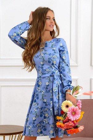Платье Размер: 44 / 46 / 48; Цвет: Шикарное платье из текстильного полотна. Очень красивый и необычный дизайн ткани, собственного производства. Платье подойдет на любые случаи жизни. Поясок в комплект
