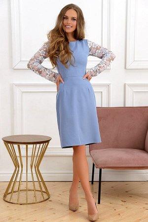 Платье Шикарное платье, в очень красивой расцветке. Платье идеально садится по фигуре. Основа платья-плотный трикотаж, 75 % вискоза 30 % полиэстер 5 % лайкра -плотность 540грамм. Рукава гипюр хлопок в