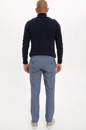 брюки Размеры модели: рост: 1,82 грудь: 98 талия: 81 бедра: 96 Надет размер: размер 32 - рост 32 Elastan 5%, Вискоз 33%, Полиэстер 62%