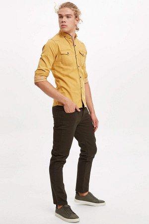 брюки Размеры модели: рост: 1,88 грудь: 98 талия: 75 бедра: 94 Надет размер: размер 30 - рост 30 Elastan 2%, Хлопок 98%