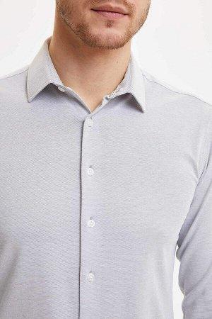 рубашка Размеры модели: рост: 1,89 грудь: 99 талия: 75 бедра: 99 Надет размер: M  Хлопок 50%, Полиэстер 50%