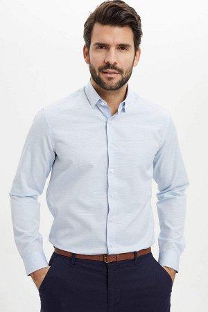 рубашка Размеры модели: рост: 1,88 грудь: 99 талия: 80 бедра: 97 Надет размер: M  Хлопок 30%, Полиэстер 70%