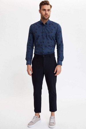 рубашка Размеры модели: рост: 1,88 грудь: 104 талия: 76 бедра: 96 Надет размер: M  Хлопок 50%, Полиэстер 50%