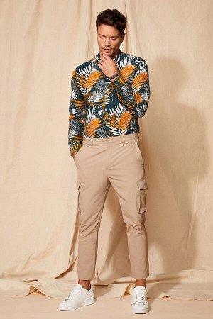 рубашка Размеры модели: рост: 1,88 грудь: 100 талия: 79 бедра: 96 Надет размер: M  Хлопок 100%