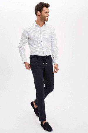 рубашка Размеры модели: рост: 1,88 грудь: 100 талия: 79 бедра: 96 Надет размер: M  Хлопок 55%, Полиэстер 45%