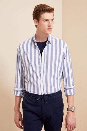 рубашка Размеры модели: рост: 1,88 грудь: 98 талия: 82 бедра: 95 Надет размер: M  Хлопок 100%
