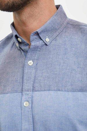 рубашка Размеры модели: рост: 1,89 грудь: 100 талия: 74 бедра: 97 Надет размер: L  Хлопок 100%