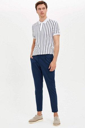 брюки Размеры модели: рост: 1,89 грудь: 99 талия: 75 бедра: 99 Надет размер: размер 30 - рост 32  Хлопок 98%,Elastan 2%