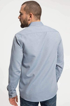 рубашка Размеры модели: рост: 1,82 грудь: 98 талия: 81 бедра: 96 Надет размер: M  Полиэстер 70%, Хлопок 30%
