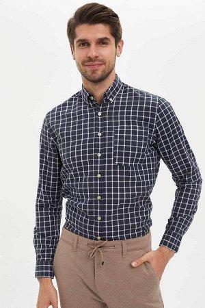 рубашка Размеры модели: рост: 1,89 грудь: 100 талия: 74 бедра: 97 Надет размер: S  Хлопок 100%