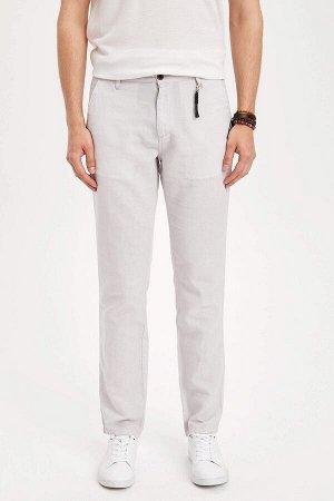 брюки Размеры модели: рост: 1,82 грудь: 98 талия: 81 бедра: 96 Надет размер: размер 30 - рост 32  Хлопок 50%,Keten 50%
