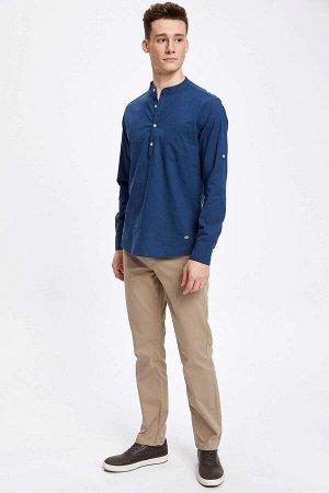 рубашка Размеры модели: рост: 1,88 грудь: 99 талия: 80 бедра: 96 Надет размер: M  Хлопок 100%
