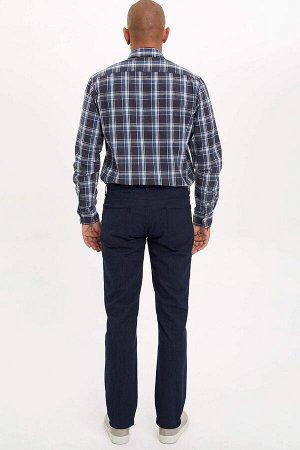 брюки Размеры модели: рост: 1,82 грудь: 98 талия: 81 бедра: 96 Надет размер: размер 30 - рост 32  Хлопок 70%,Elastan 1%, Полиэстер 29%