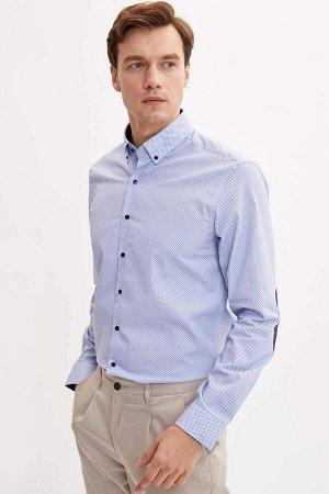 рубашка Размеры модели: рост: 1,89 грудь: 99 талия: 75 бедра: 99 Надет размер: M  Хлопок 100%