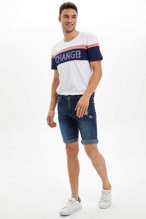 шорты Размеры модели: рост: 1,85 грудь: 96 талия: 80 бедра: 95 Надет размер: 30 Elastan 1%, Хлопок 99%